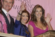 Elizabeth Hurley Rings The NYSE Closing Bell To Kick Off Breast Cancer Awareness Month 10/1/10