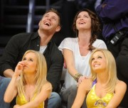 Nov 24, 2010 - Danneel Harris and Jensen Ackles at Lakers Game in Los Angeles Bbcef2108348250