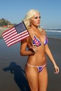 Karissa Shannon Happy 4th in a Bikini Thong at Malibu Beach 7/4/10