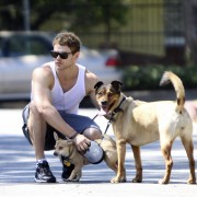 Kellan Lutz walking his dogs July 23rd 64f54f89844832